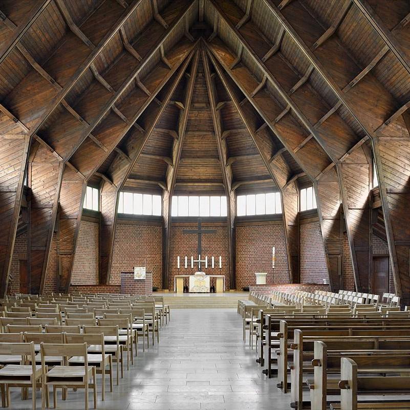 Zeichen neuer Hoffnung: Erlöserkirche Münster als Notkirche, 1949/50 von Otto Bartning gebaut. Foto: Hartwig Dülberg, LWL-DLBW