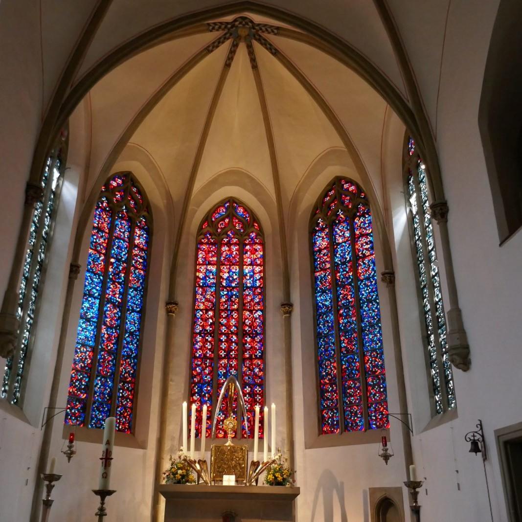Benteler & Wörmann: Servatiikirche Münster (Wiederaufbau), 1947-52 Foto: Stefan Rethfeld