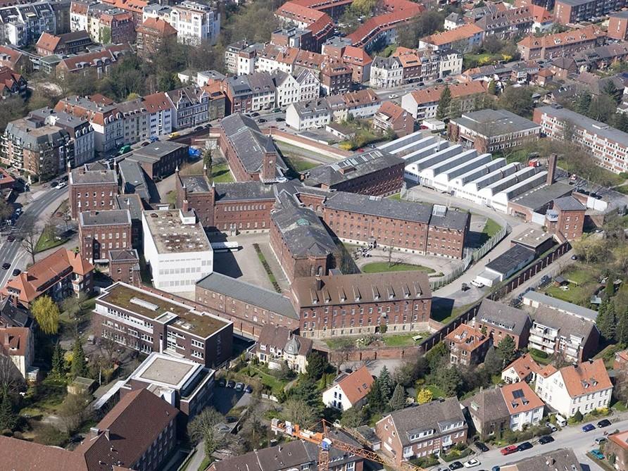 Münster, Luftaufnahme Gefängnis, 2010. Foto: Archiv JVA Münster