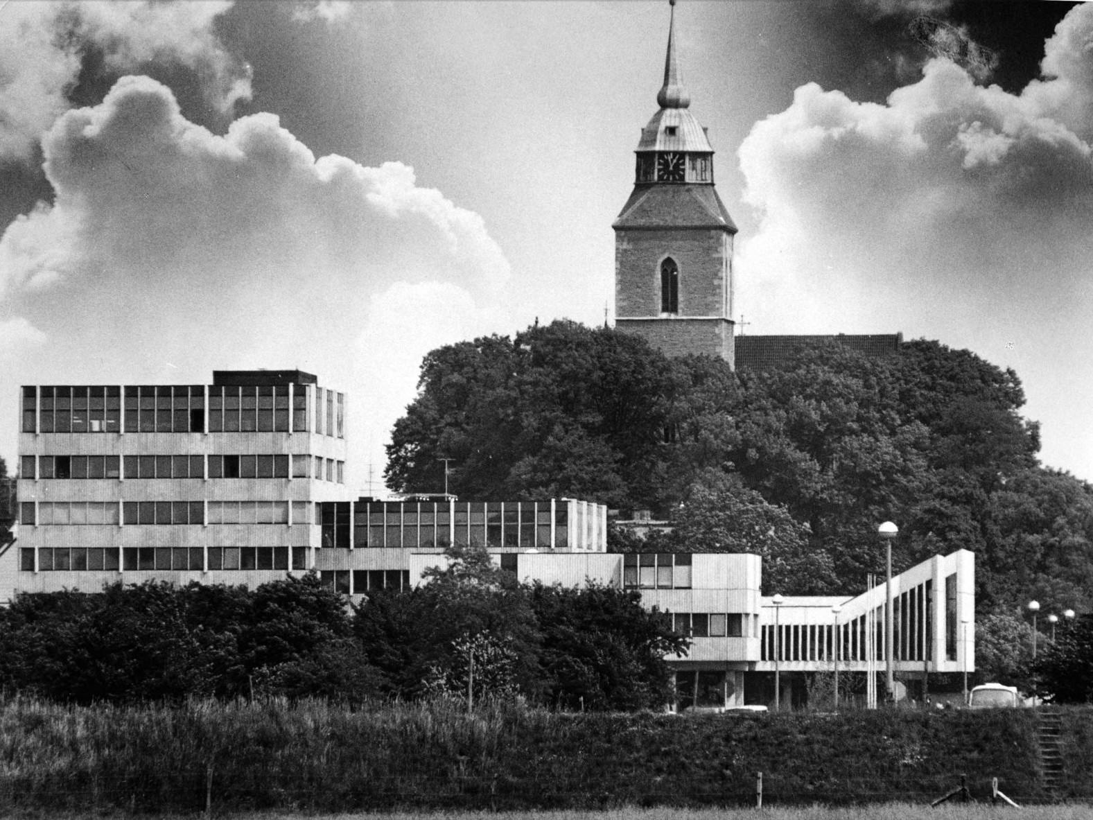 Rathaus Greven: Silhouette, 1973, Fotograf: Hans Eick © Sarah Johanna Eick