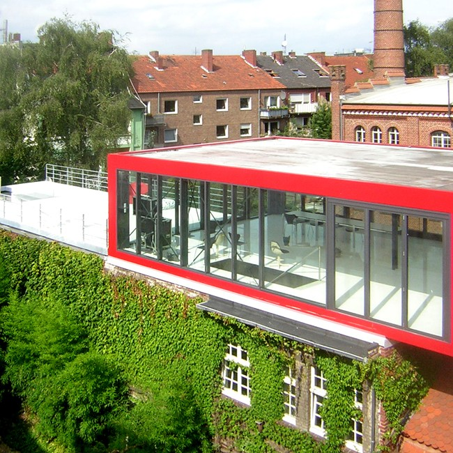Münster: Ehem. Dampfmühle und Kornbrennerei, Lingener Straße - mit neuem Aufbau (Kresings, 2008) - Foto: Kresings
