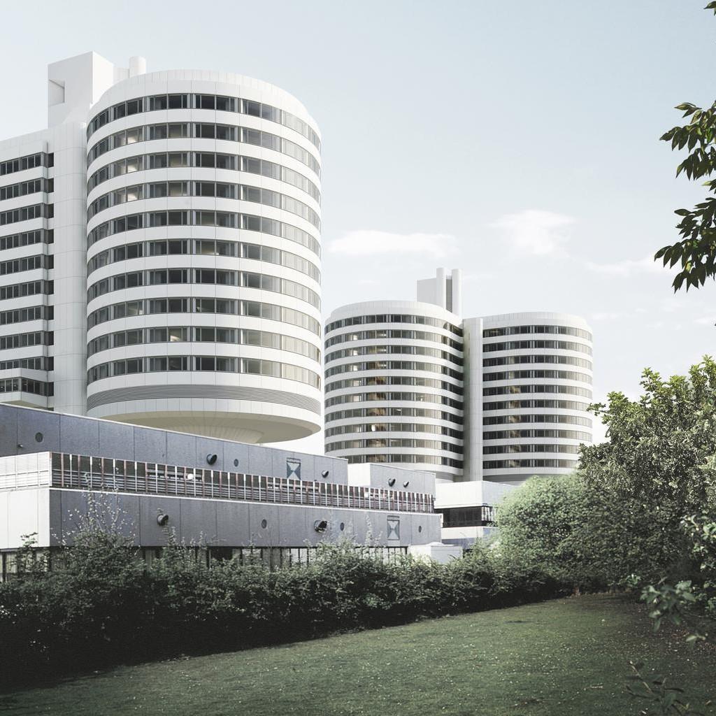 Münster: Uniklinikum (Weber, Brand und Partner 1972-1983; Kleihues+Kleihues, ab 2013 Modernisierung) - Foto: UKM IM