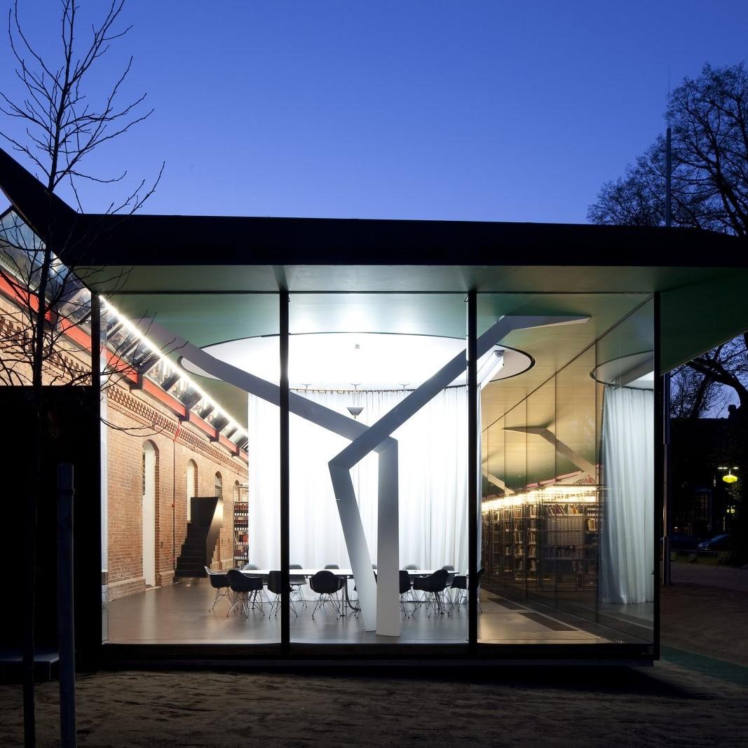 Münster: Bibliothek für Architektur, Design und Kunst, Planungsgemeinschaft zauberscho(e)n mit Bühler und Bühler, 2009 - Foto: Roland Borgmann