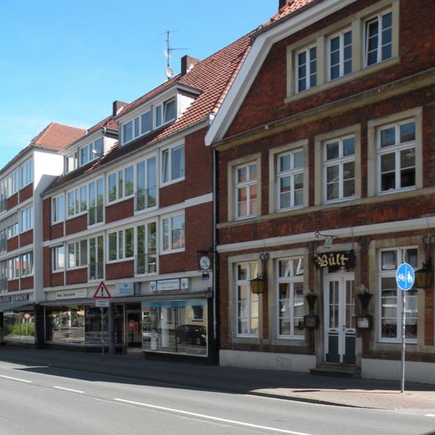Münster: Wohn- und Geschäftshaus Krimphove, Bült (Architekt: Jobst Hans Muths, um 1958) Foto: Stefan Rethfeld
