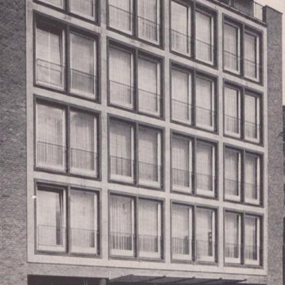 Münster: Apartmenthaus, Windhorststraße (Architekt: Jobst Hans Muths, 1958) Foto: Stefan Rethfeld