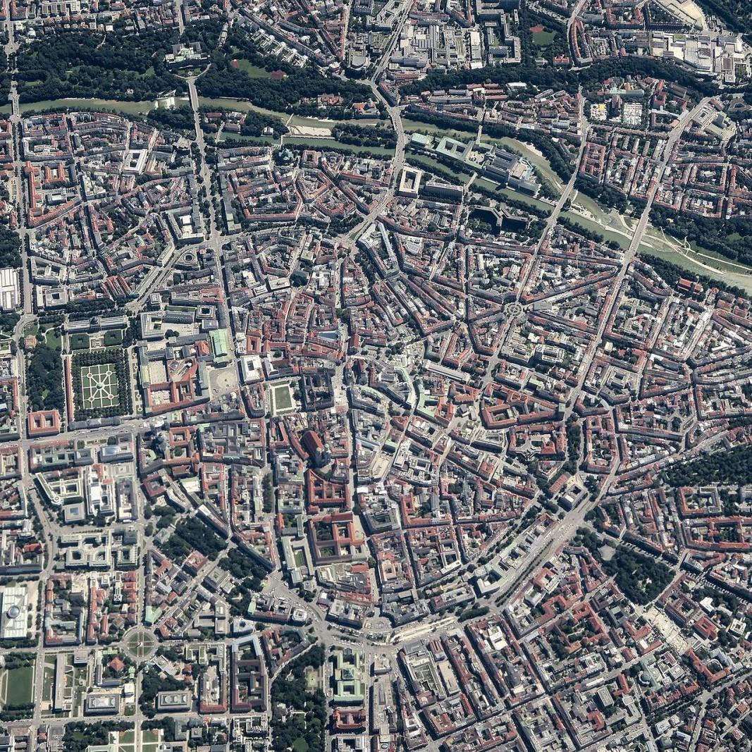 München-Innenstadt: Luftbild - Foto: Maximilian Dörrbecker