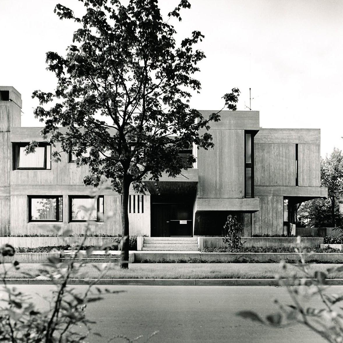 Harald Deilmann: Wohnhaus Dr. Steimann Ahlen, 1965 - Foto: Baukunstarchiv NRW, Nachlass Deilmann