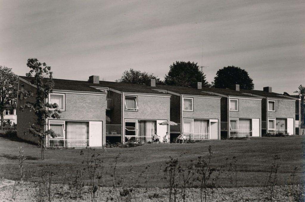 Harald Deilmann: Personalwohnhäuser, Kurklinik, Bad Salzuflen, 1956 - Foto: Baukunstarchiv NRW / Nachlass Harald Deilmann