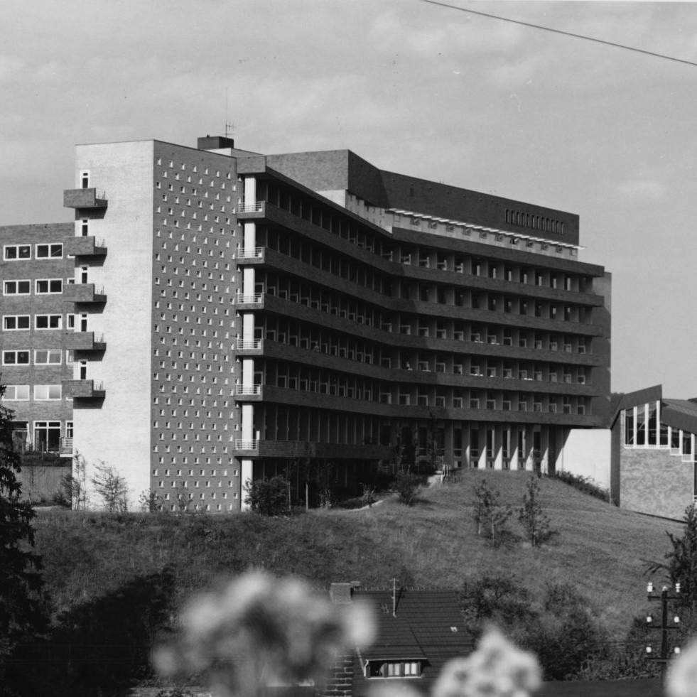 Harald Deilmann: Aggertalklinik Engelskirchen, 1956-1961 - Abb: Baukunstarchiv NRW, Nachlass Harald Deilmann, Foto: Friedhelm Thomas