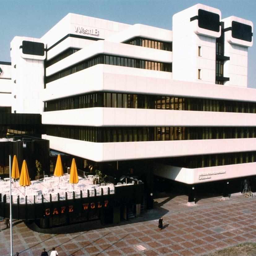 Harald Deilmann: WestLB Dortmund, 1978 - Foto: Baukunstarchiv NRW, Nachlass Harald Deilmann