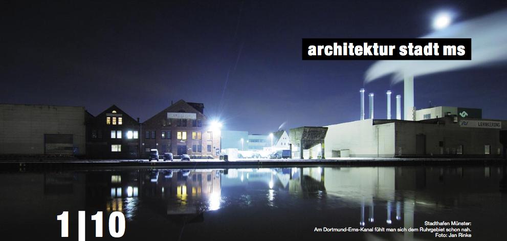 Stadthafen Münster: Am Dortmund-Ems-Kanal fühlt man sich dem Ruhrgebiet schon nah. Foto: Jan Rinke