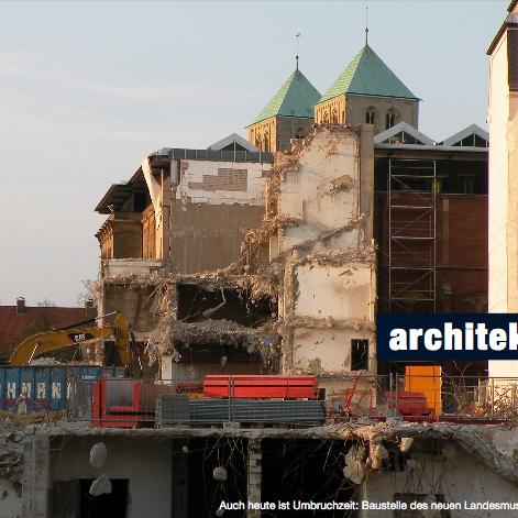 Auch heute ist Umbruchzeit: Baustelle des neuen Landesmuseums am Domplatz. Foto: Stefan Rethfeld