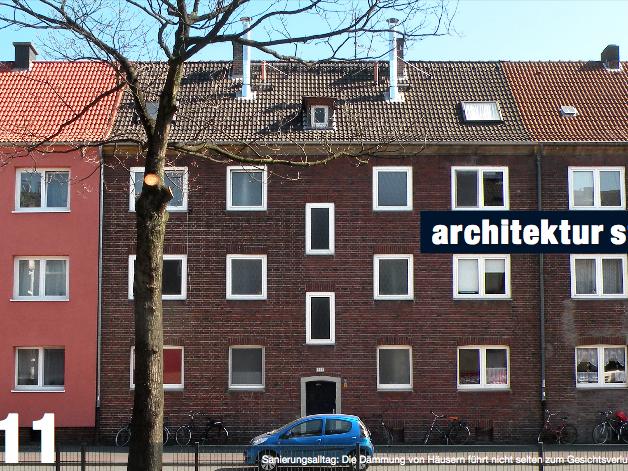 Sanierungsalltag: Die Dämmung von Häusern führt nicht selten zum Gesichtsverlust. Foto: Stefan Rethfeld