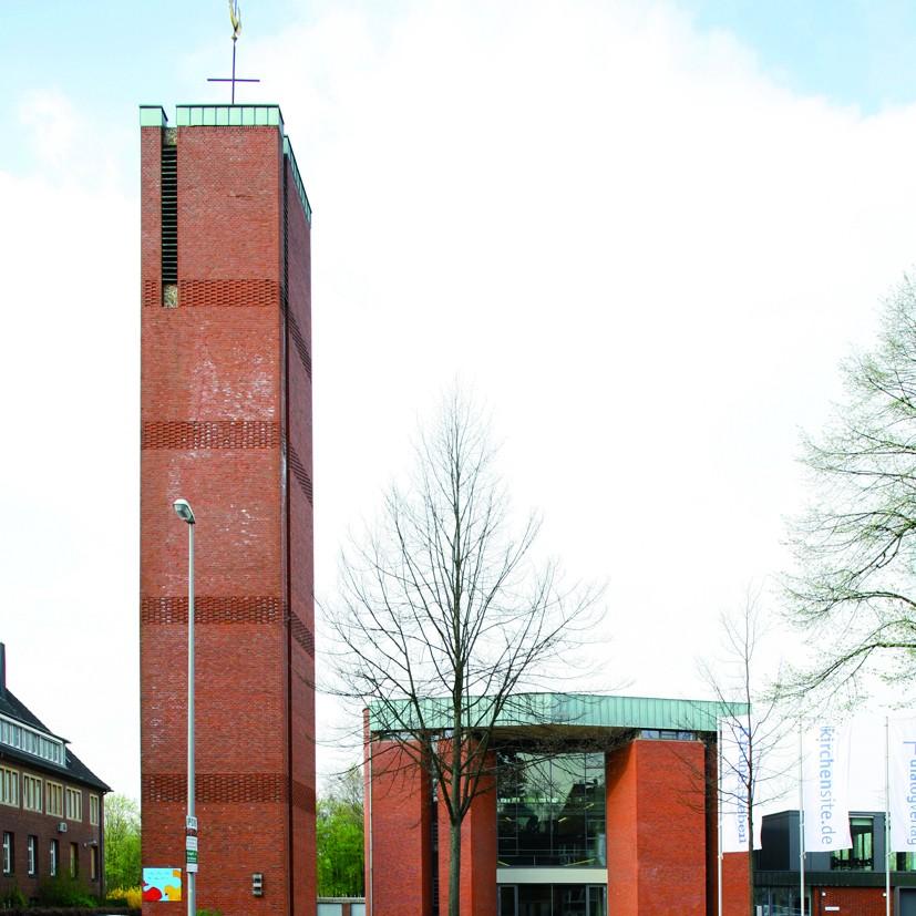 Kleffner / Kleffner-Dirxen: Medienhaus des Bistums Münster. ehem. Bonifatiuskirche, Münster - Foto: Roland Borgmann