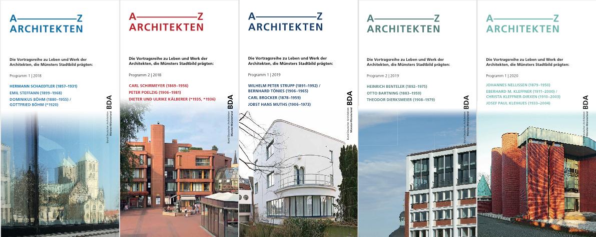 A-Z Architekten - Veranstaltungsreihe des BDA Münster-Münsterland seit 2016