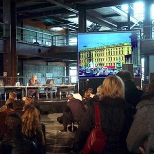 Fun Palace, Architekturkonferenz im Palast der Republik, Berlin 2004 - Foto: Dirk Baltzer