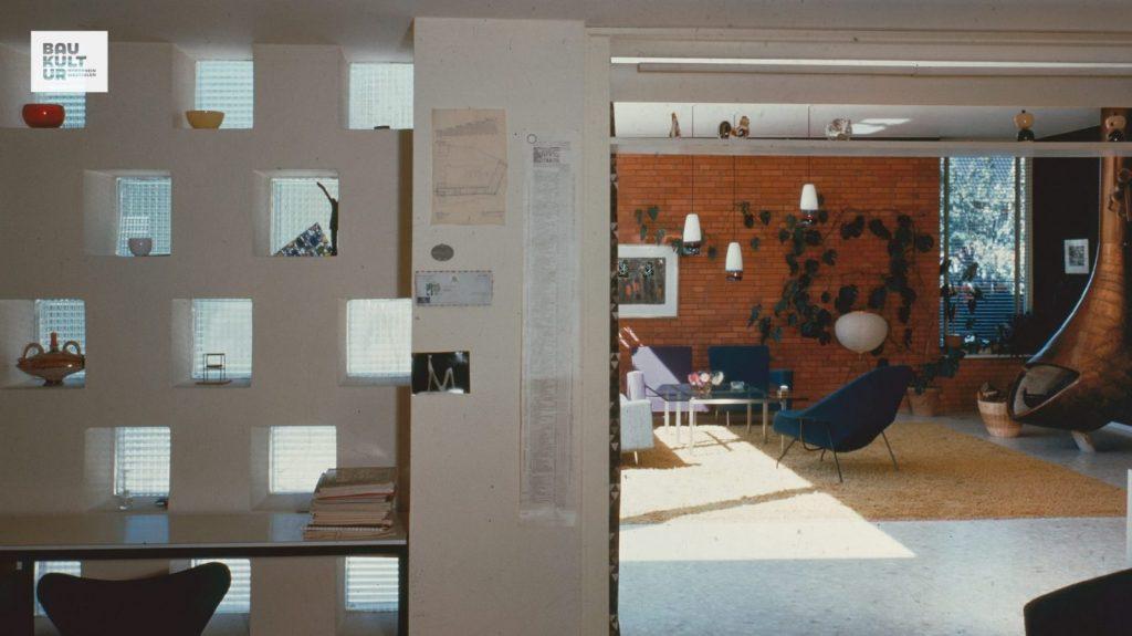 Wohnhaus Deilmann, Münster: Blick vom Schreibtisch, 1956