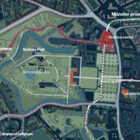 Schlossareal Münster - Entwurf: COBE - Quelle: Stadt Münster, Dezernat für Planung, Bau und Wirtschaft, Internationale Ideenwerkstatt Münster