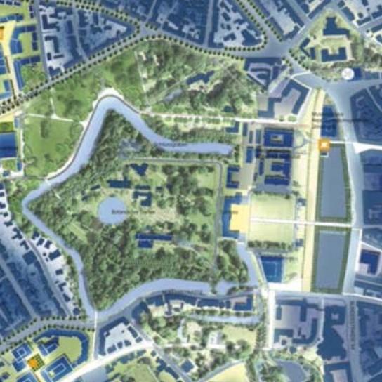 Schlossareal Münster - Entwurf: Land Germany / Astoc - Quelle: Stadt Münster, Dezernat für Planung, Bau und Wirtschaft, Internationale Ideenwerkstatt Münster