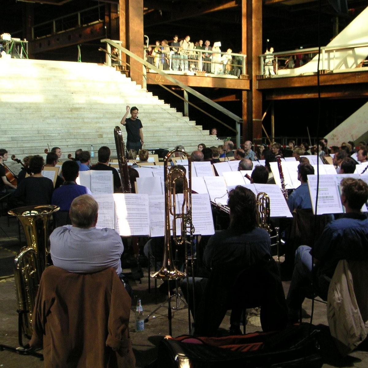 Zwischen Palast Nutzung, Konzert Christian von Borries, 2003 - Foto: Stefan Rethfeld