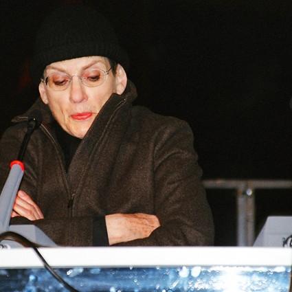 Fun Palace, Architekturkonferenz im Palast der Republik - Phyllis Lambert - Berlin 2004 - Foto: Aiette Wiechmann-Shagal