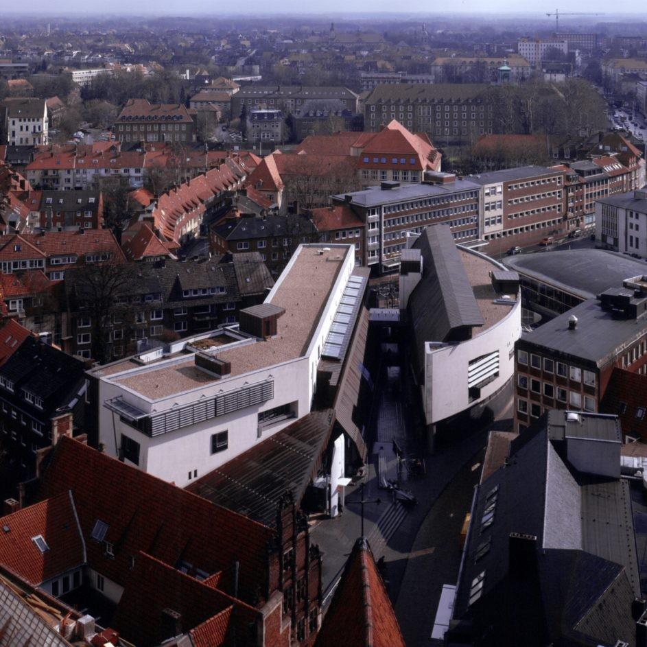 Stadtbücherei Münster, Blick von St. Lamberti - Foto: Christian Richters
