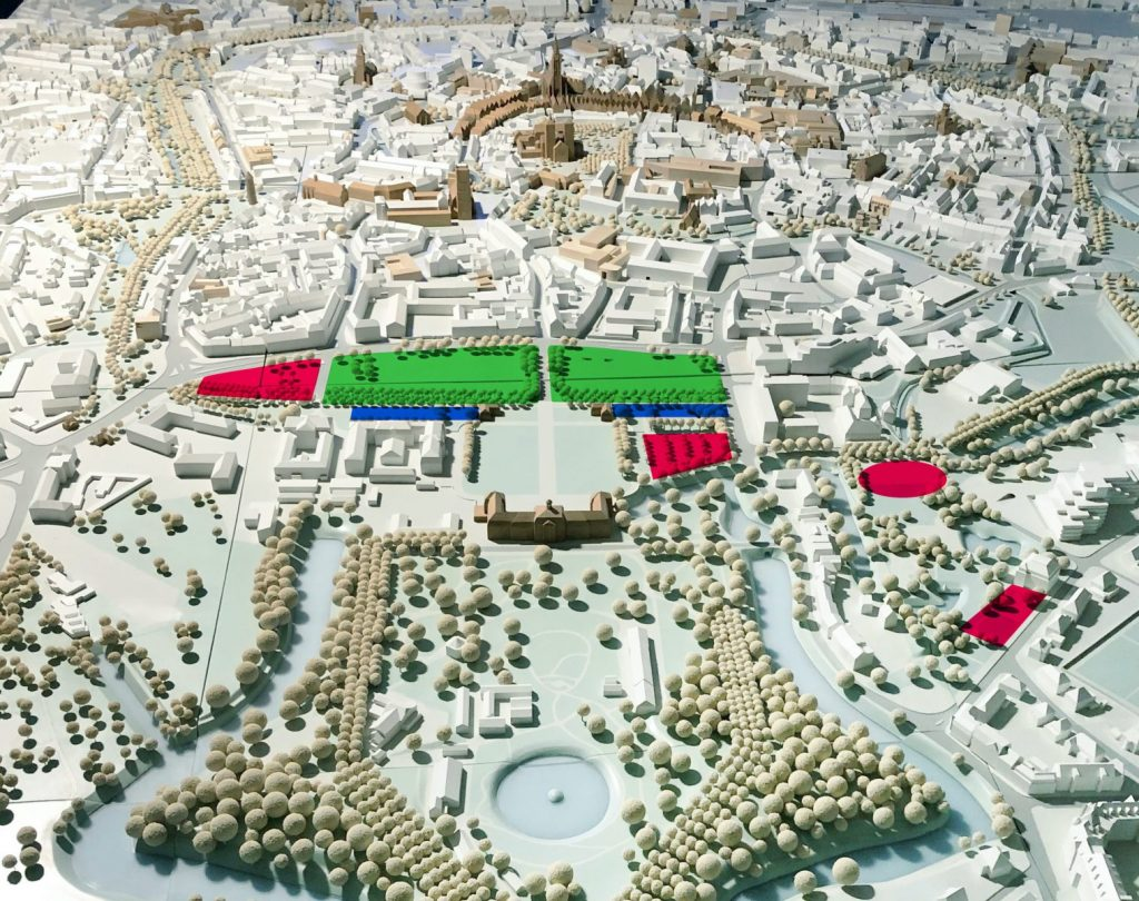 Schloss Platz Kultur 2020 - Entwicklung des Schlosareals zwischen Schloss und Altstadt - Grafik: Schloss Platz Kultur 2020 / Grundlage: Münster Modell